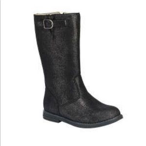 NEW Hanna Andersson black glitter boots